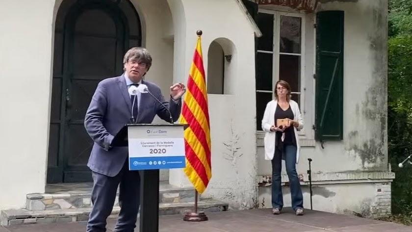 El expresidente de la Generalitat y líder de Junts, Carles Puigdemont.