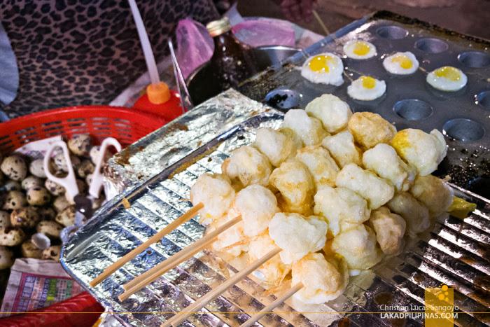 Shilin Night Market Taipei Quail Eggs Takoyaki