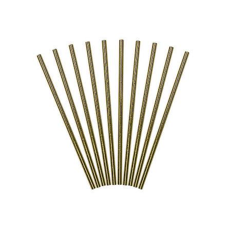 Sugrör - Guld metallic