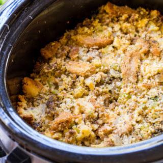 Slow Cooker Sausage Cornbread Dressing