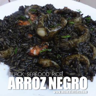 Arroz Negro – Black Seafood Rice
