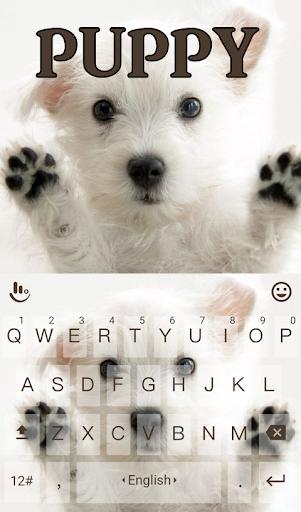 Cute Puppy Keyboard Theme