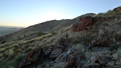 Photo: Climbing up to the plateau (Ricky's photo)