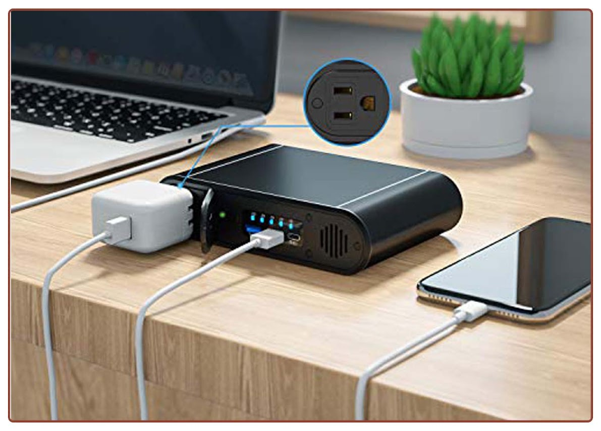AC Outlet Portable Charger, 30000mAh 100W Power Bank for Laptop, Black