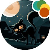 Night Cat Xperia Theme