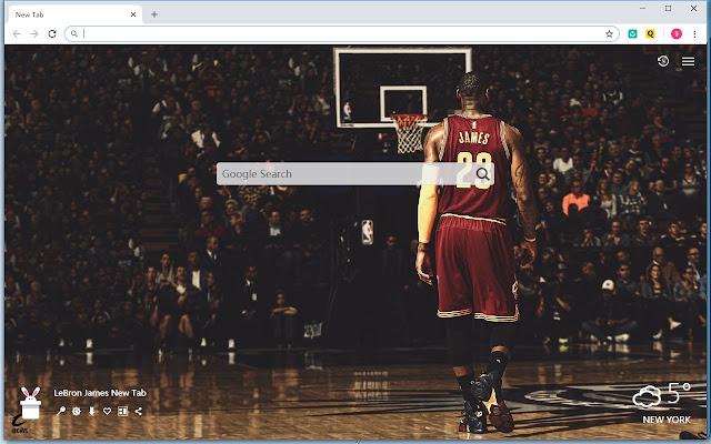 LeBron James HD Wallpaper New Tab - Qtab