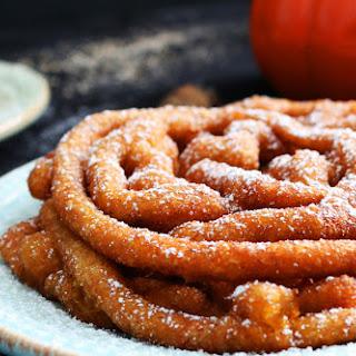 Pumpkin Spice Funnel Cakes