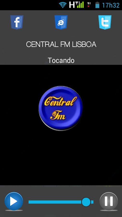 CENTRAL FM LISBOA- screenshot