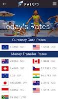 Screenshot of FAIRFX Mobile Banking