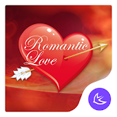 Red romantic love theme