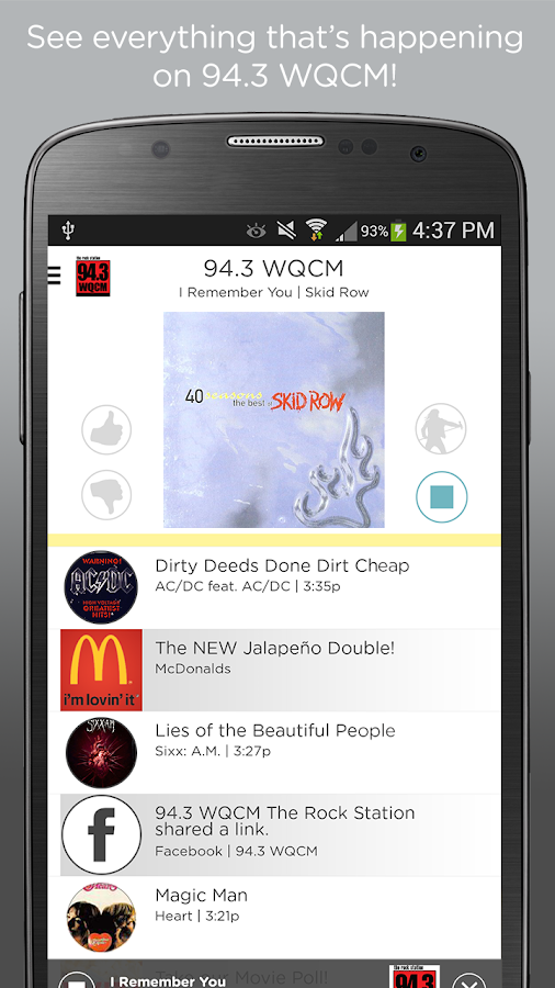 94.3 WQCM- screenshot