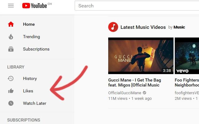 Youtube Likes Sidebar Button