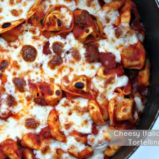 Cheesy Italian Sausage Tortellini Skillet