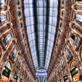 Milan Gallery by Luca Libralato - Buildings & Architecture Public & Historical ( milan, fisheye, vittorio emanuele, gallery, shops )