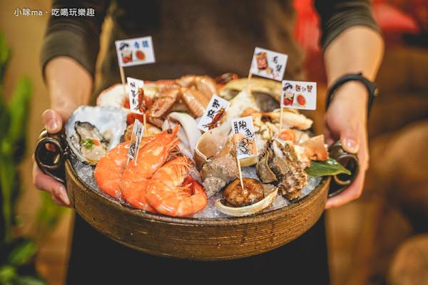 安東建一水產 超澎派的海鮮手抓拼盤給你滿滿der鮮甜海味 海鮮控錯過絕對懊惱!。點海鮮拼盤還有隱藏版握壽司撒密斯送你吃。捷運忠孝復興站