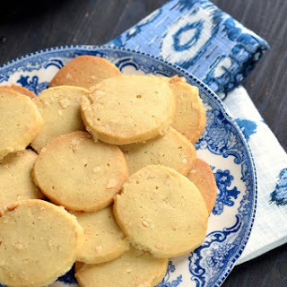 Chai Masala Spice and Cashew Nut Shortbread Cookies.