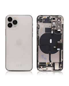 iPhone 11 Pro Housing with small parts Original Pulled Silver