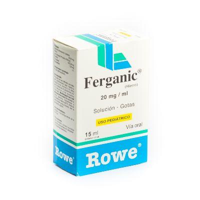 Hierro Ferganic Gotas 20Mg/Ml X 15Ml Rowe Gotas 20mg/mL x 15ml