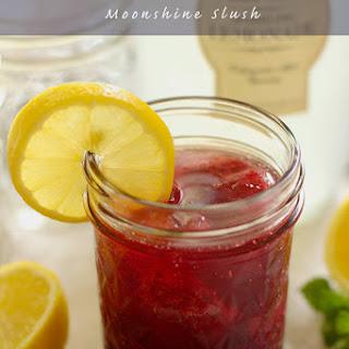 Lemon Blueberry Moonshine Slush.