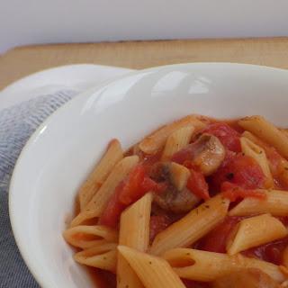 Microwave Pasta Sauce - Mushroom Marinara.