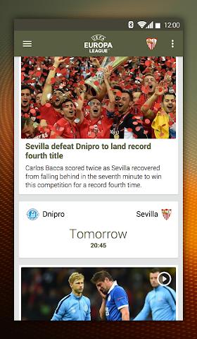 android UEFA Europa League Screenshot 0