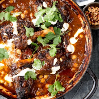 Lamb Shanks, Chickpeas And Curry Leaves