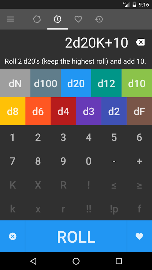 CritDice - Dice Roller- screenshot
