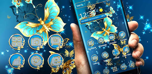 Golden Butterfly Theme Lock Screen Apps On Google Play