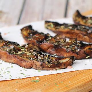 Mediterranean Grilled Portobello Mushrooms.