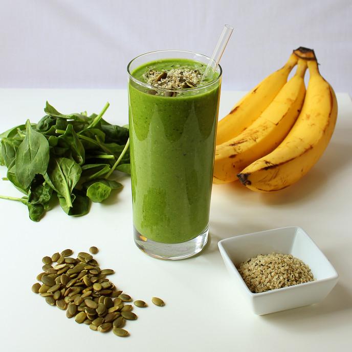 Green Protein Power Breakfast Smoothie Recipe