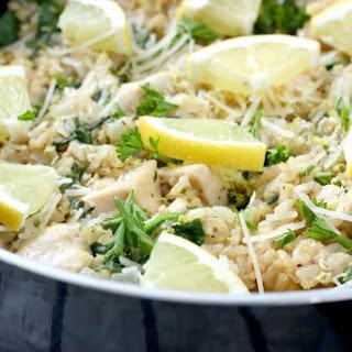 Lemon Parmesan Chicken and Rice Skillet