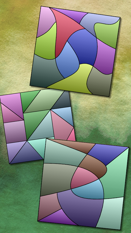 Curved Shape Puzzle- screenshot