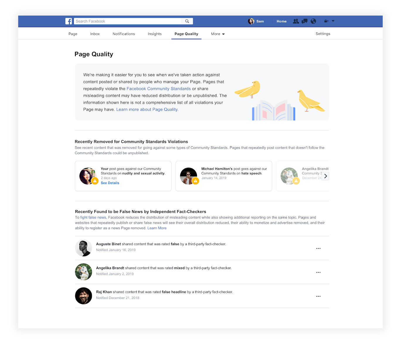 Facebook增強透明度,在專頁加「Page Quality Tab」