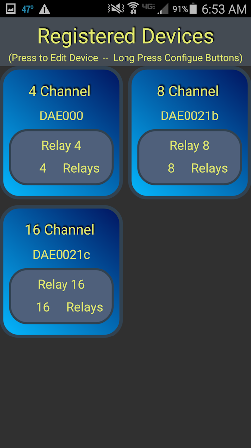 DAE USB Relays- screenshot
