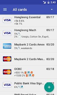 screenshot image - Visa Credit Card App