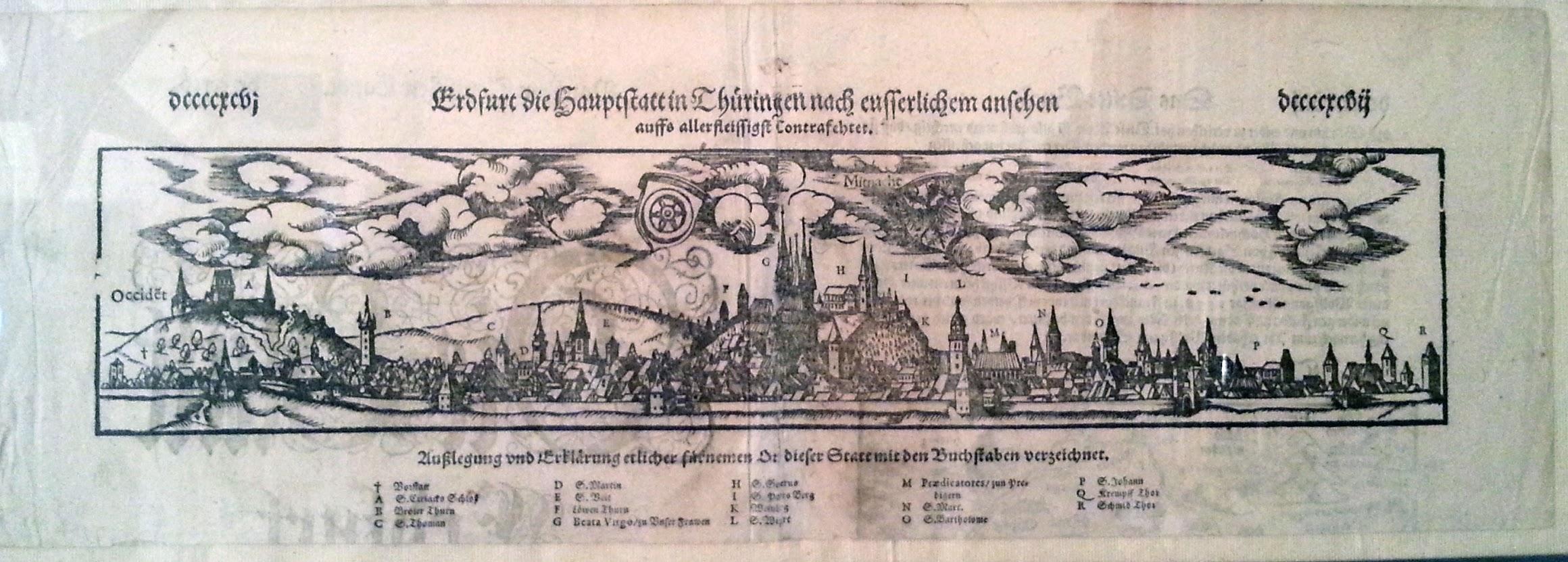 Erdfurt - die Hauptstadt in Thüringen nach eusserlichem ansehen auffs aller fleissigst Contrafehet - 1548