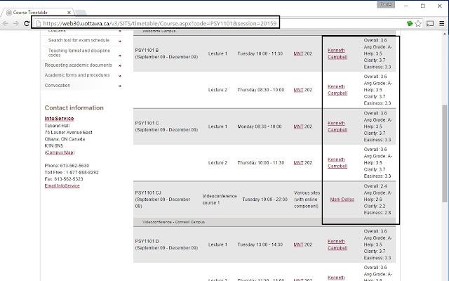 University of Ottawa Rate my Prof