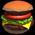Physics Hamburger 3D icon