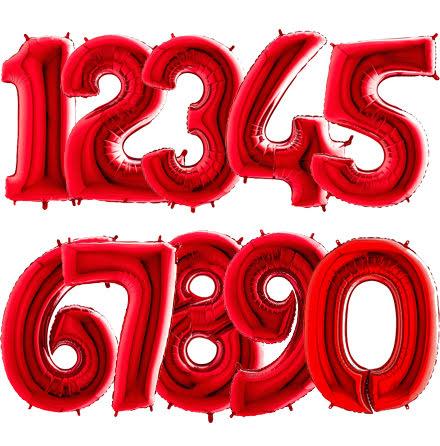 Ballongsiffra - Röd