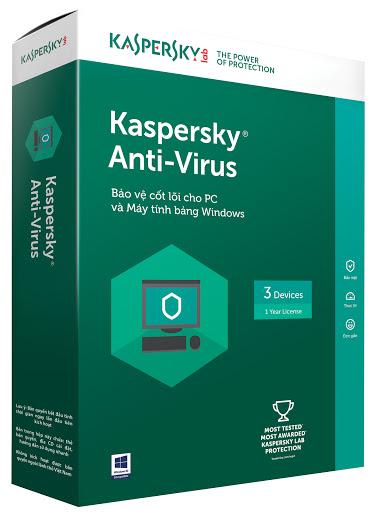 Phần mềm Kaspersky Antivirus 3 máy tính