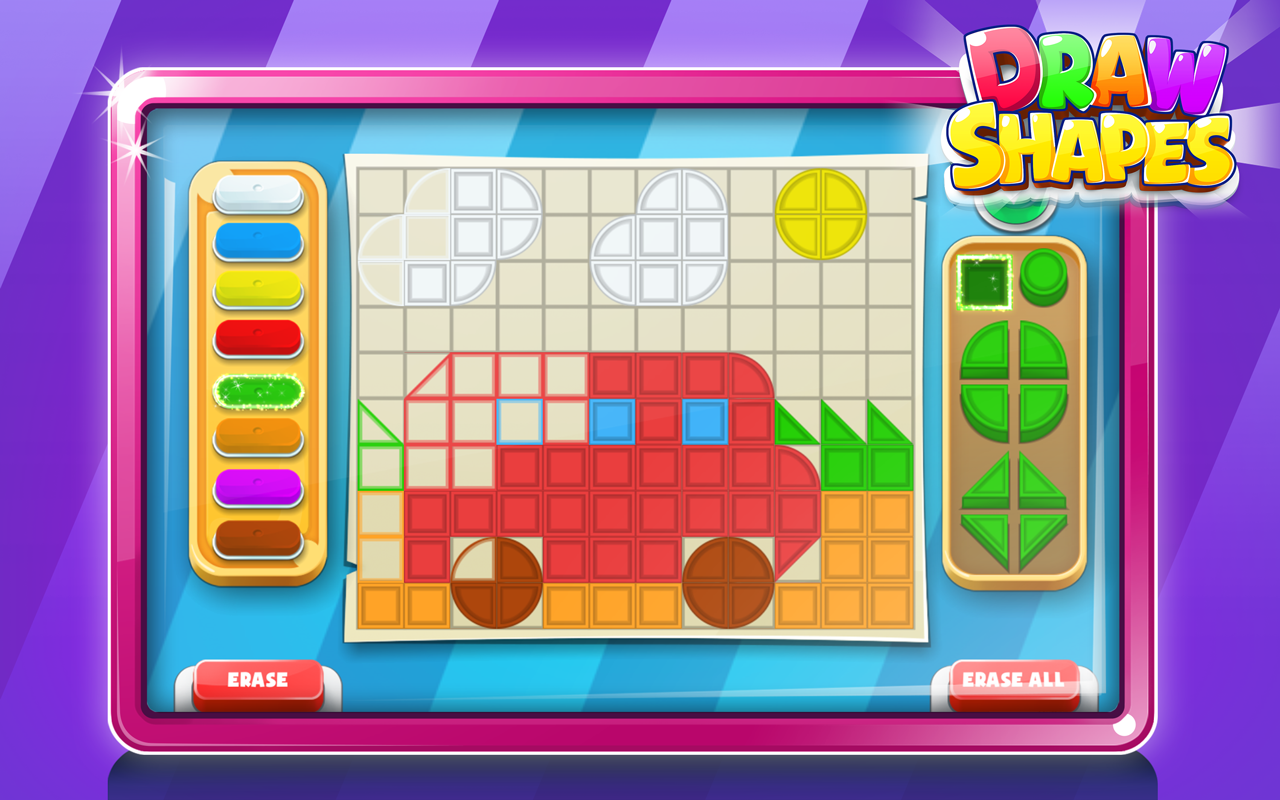 Game for colors - Shapes And Color Mosaic Puzzle Game Screenshot