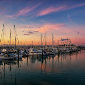 West Haven Marina, Auckland by Graeme Hunter - Transportation Boats