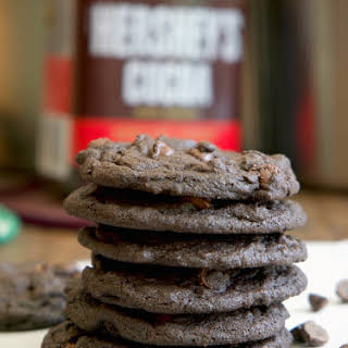 Chewy Double Chocolate Chip Cookies.
