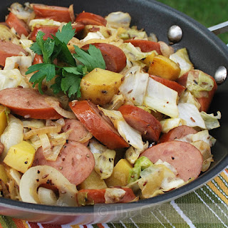 Sausage, Potato and Cabbage Skillet