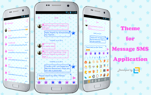 sms messages stars theme screenshot 1
