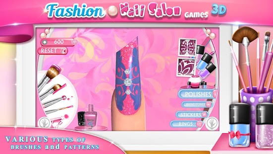Fashion nail salon games 3d android apps on google play for 3d beauty salon games