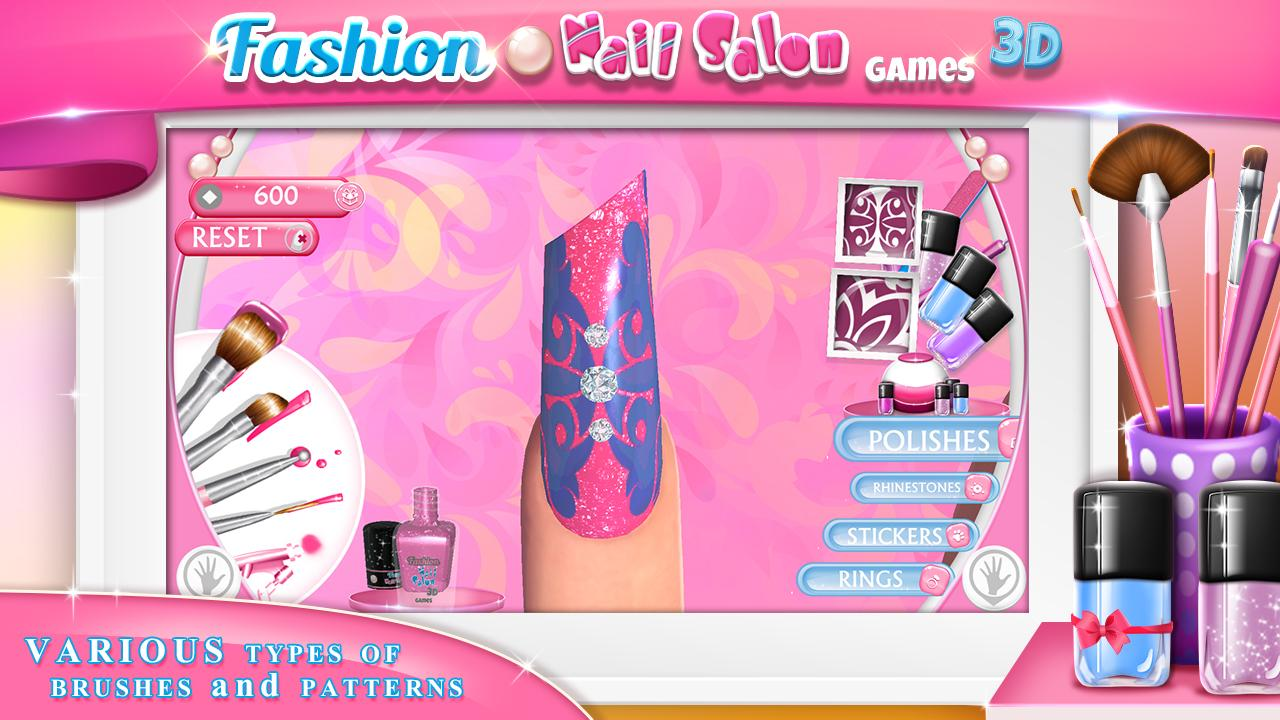 Fashion nail salon games 3d android apps on google play for A nail salon game