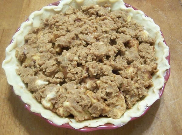 Top with Crumb Topping. Combine 1/3 cup brown or white sugar, 3/4 cups flour...