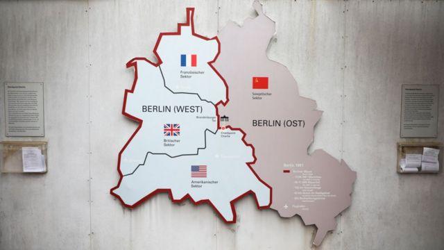 Nước Đức bị chia cắt thành nhiều phần sau Thế chiến II