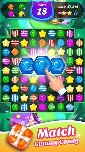 Gummy Candy Blast - Free Match 3 Puzzle Game screenshot 4